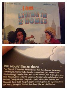 gratitude page from I am living in two homes