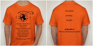 front and back of MotherEmanuel T-Shirt